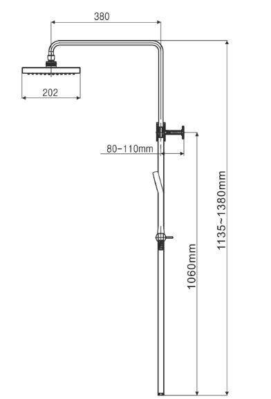 Bản vẽ kỹ thuật American Standard Moonshadow D20S