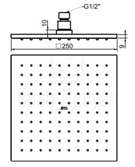 Bản Vẽ Kỹ Thuật Bát Sen American Standard FFASS038