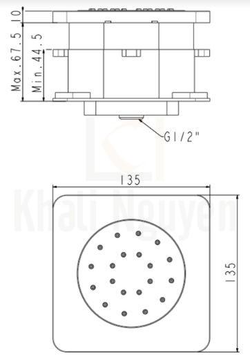 Bản vẽ Kỹ Thuật American Standard FFASS054 EasySET