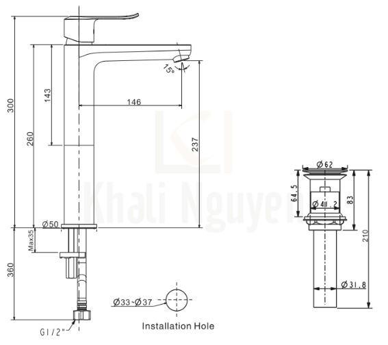 Bản Vẽ Kỹ Thuật American Standard WF-0703