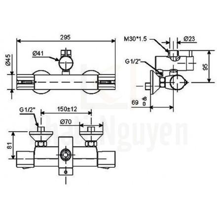 Bản vẽ kỹ thuật WF-4948 Nhiệt Độ