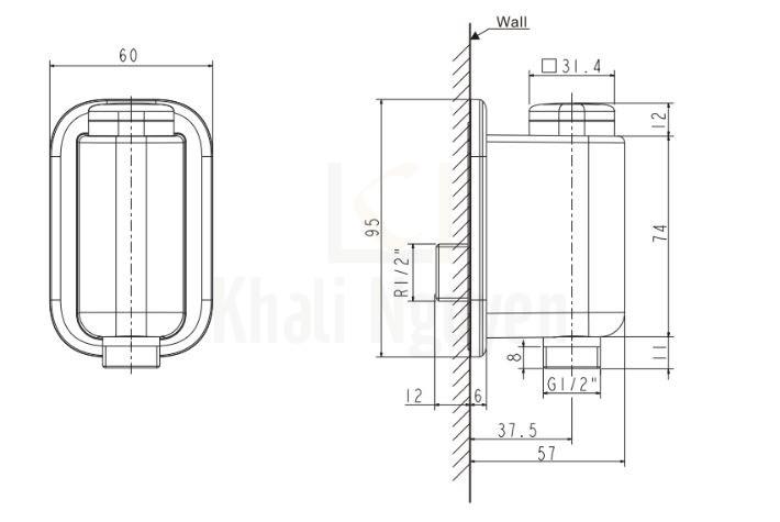 Bản Vẽ Kỹ Thuật American Standard EasyFLO WF-T825