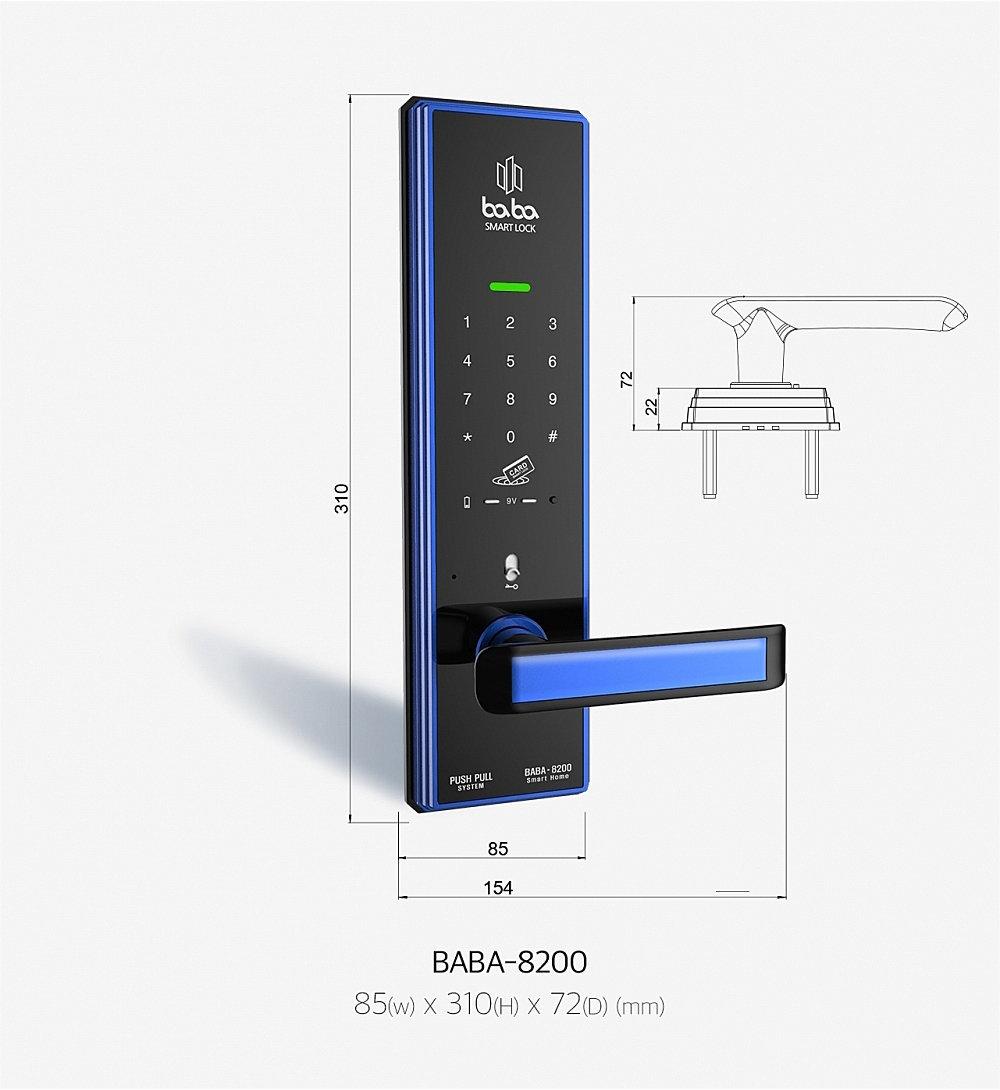 Thông số kỹ thuật khóa BABA-8200