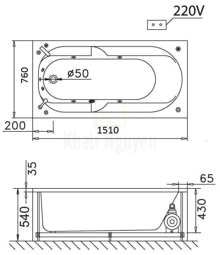 Bản vẽ kỹ thuật CAESAR MT0150