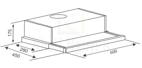 Bản vẽ kỹ thuật máy hút mùi Canzy CZ-600GM