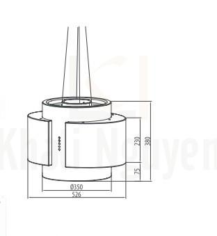 Bản vẽ kỹ thuật máy hút mùi Canzy CZ-999