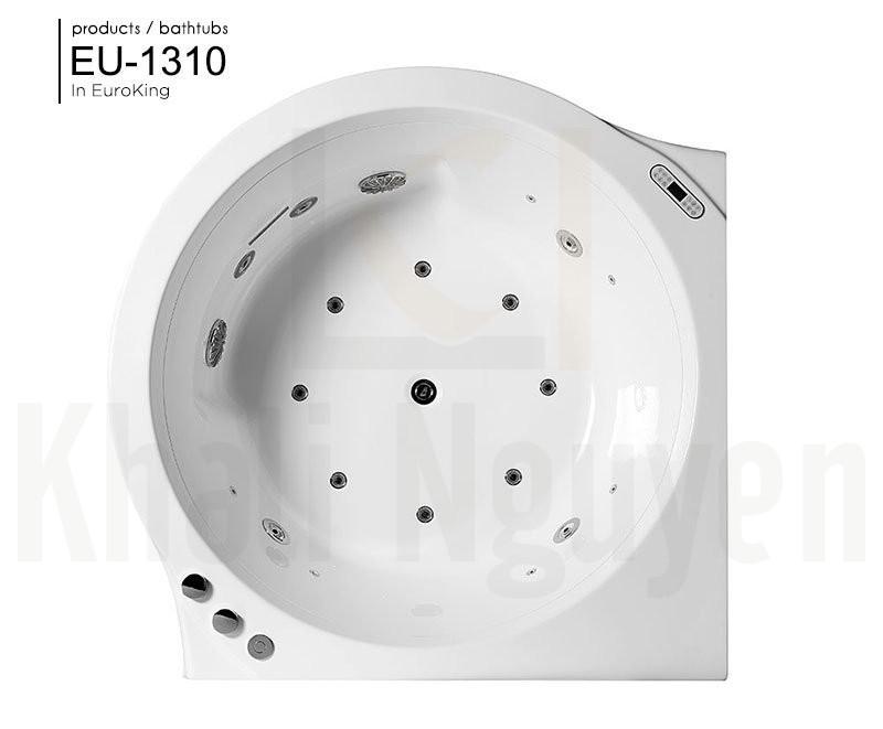 Bên trong lòng bồn tắm massage EU-1310