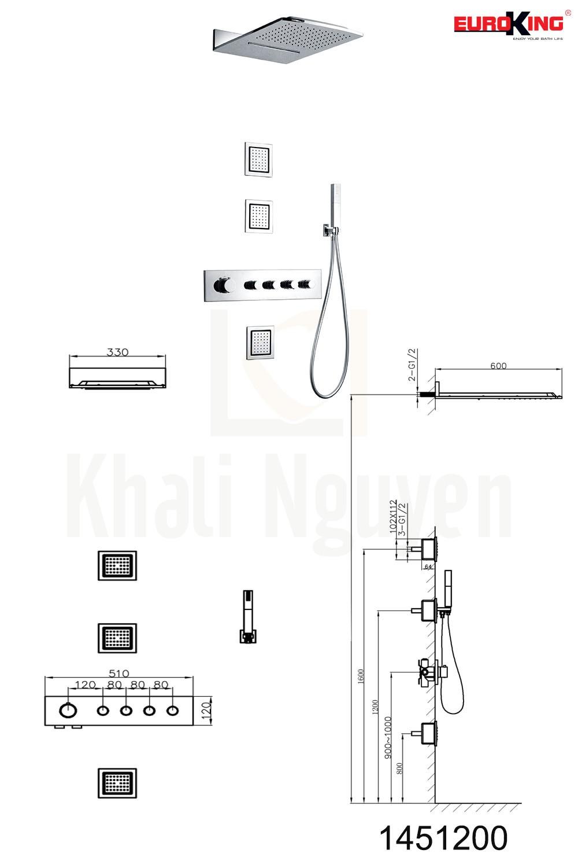 Bản vẽ Sen cây âm tường EU-1451200