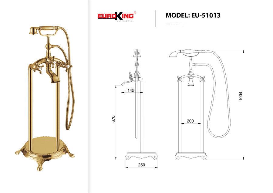 Bản vẽ kỹ thuật Sen tắm EU-51013