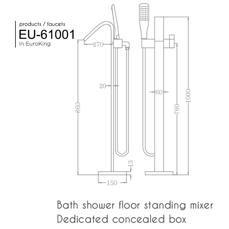 Bản vẽ Sen tắm bồn EU-61001