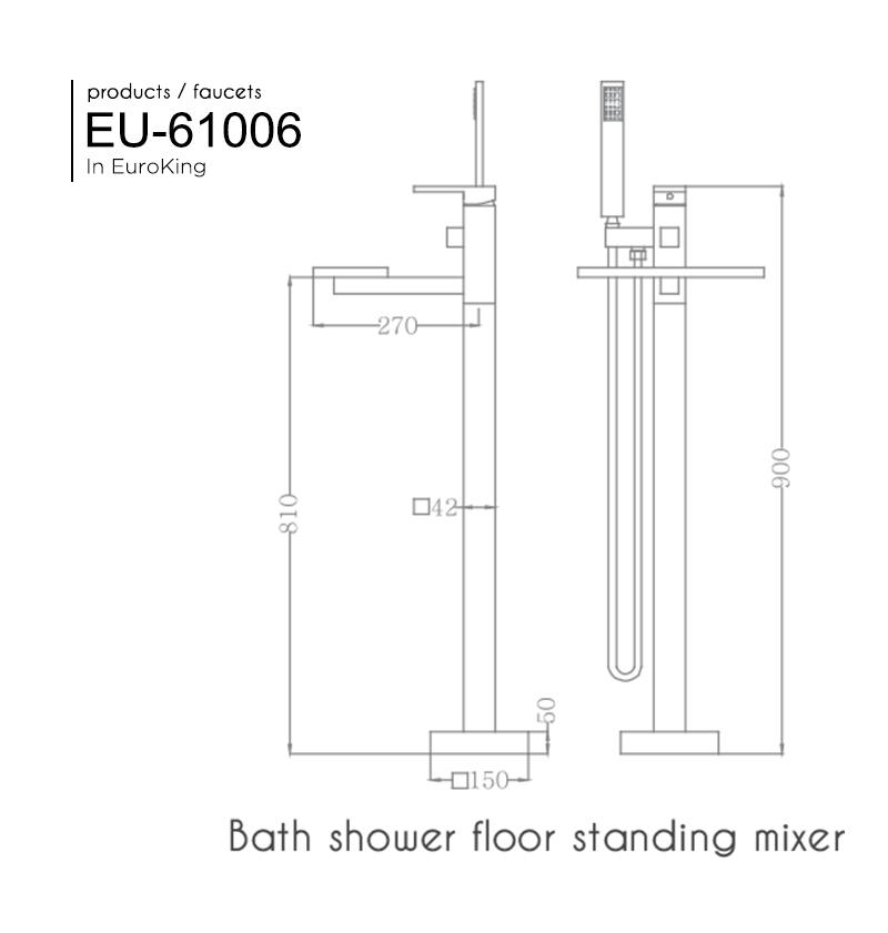 Bản vẽ Sen tắm bồn EU-61006