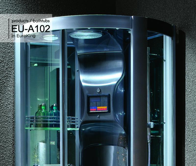 Bảng điều khiển và hệ thống sen tắm trần của phòng xông hơi EU – A102