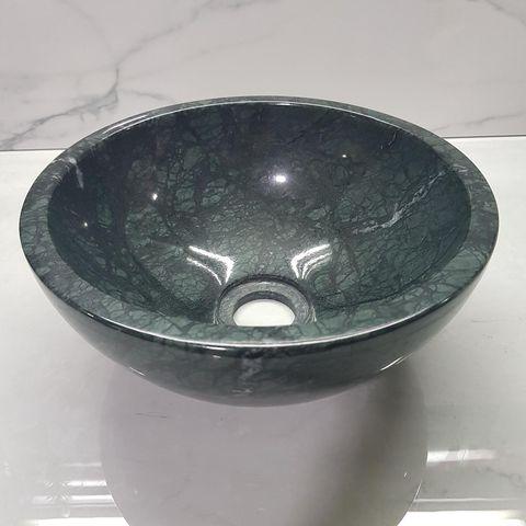 Chậu lavabo đá tự nhiên size 28 màu xanh ấn độ
