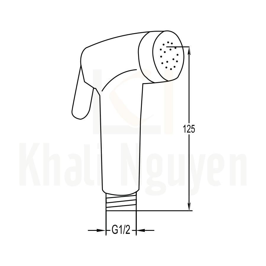 Bản Vẽ Đầu Vòi Xịt Vệ Sinh Flova FH 556