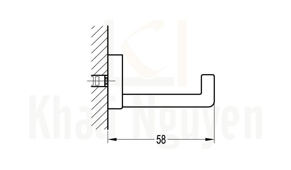 Bản Vẽ Móc Treo Áo Flova FH 8922