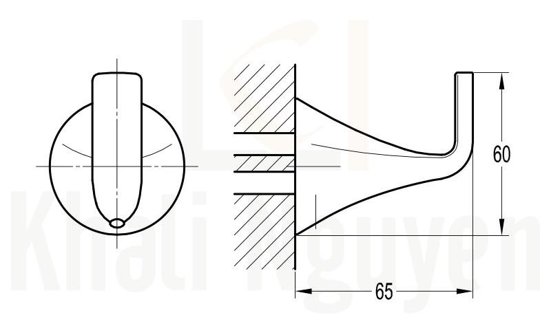 Bản Vẽ Móc Áo Flova FH 8955