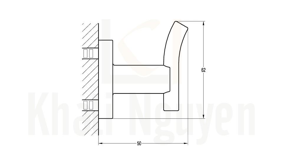 Bản Vẽ Móc Áo Flova FH 8970