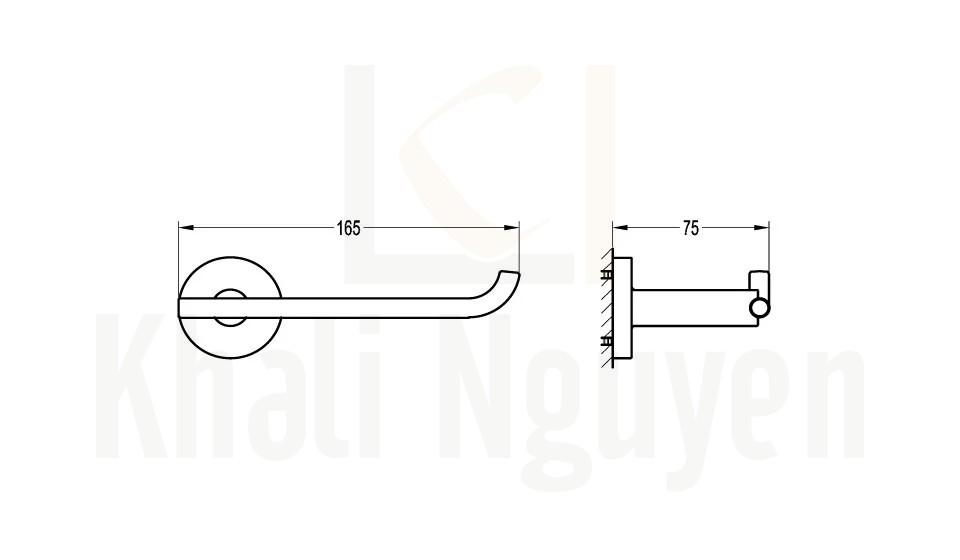 Bản Vẽ Lô Giấy Vệ Sinh Flova FH 8971-PB
