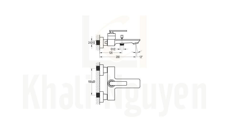 Bản Vẽ Bộ Sen Tắm Flova FH 8101-D98