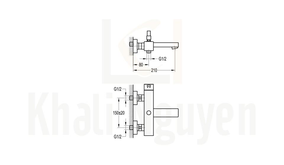 Bản Vẽ Bộ Sen Tắm Flova FH 8107-D38