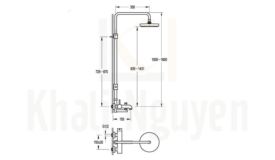 Bản Vẽ Sen Tắm Cây Flova FH 8163A-D11