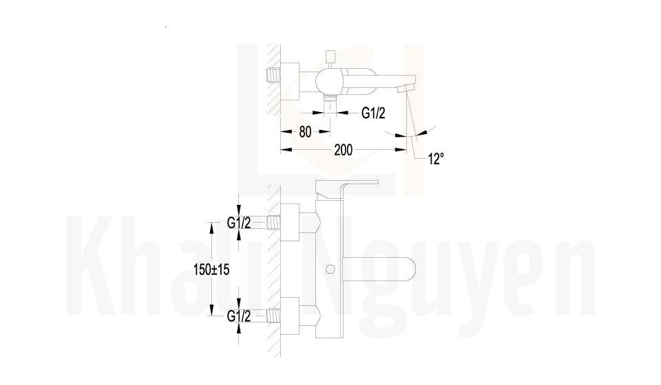 Bản Vẽ Bộ Sen Tắm Flova FH 8189-D69