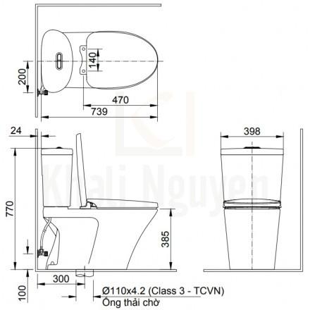 Bản vẽ kỹ thuật INAX AC-700VAN