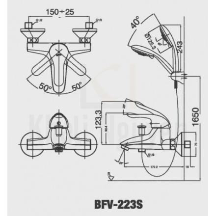 Bản vẽ kỹ thuật Inax BFV-223S