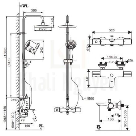 Bản vẽ kỹ thuật Inax BFV-3415T-3C