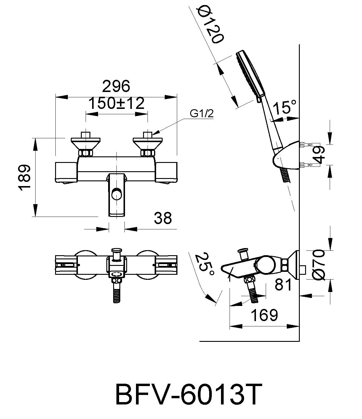 Bản vẽ kỹ thuật Inax BFV-6013T