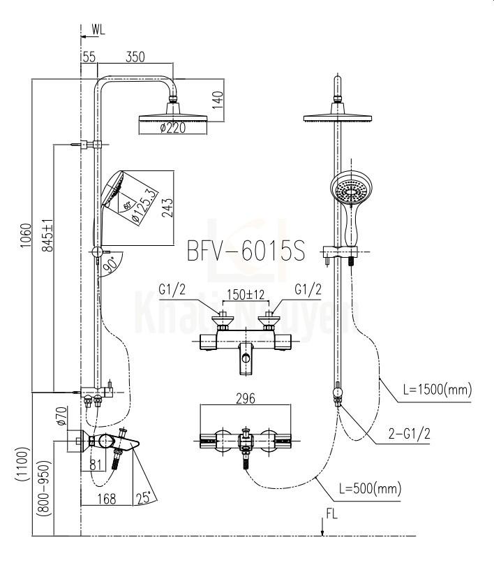 Bản vẽ kỹ thuật BFV-6015S