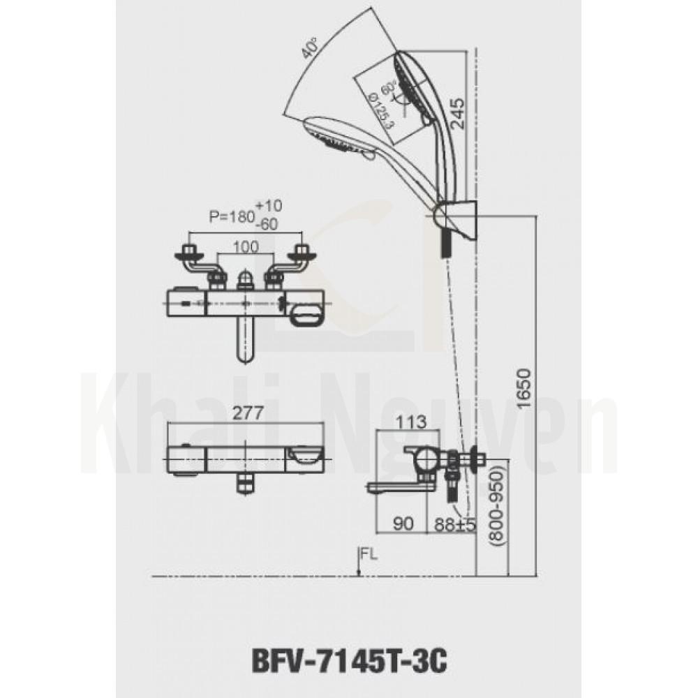 Bản vẽ kỹ thuật Inax BFV-7145T-3C