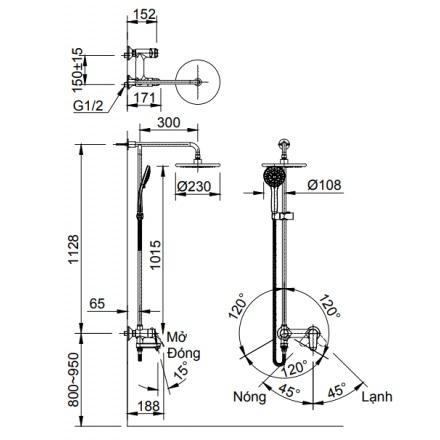Bản vẽ kỹ thuật BFV-915S