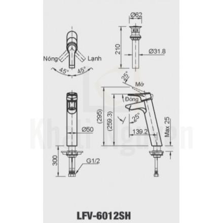 Bản vẽ kỹ thuật Inax LFV-6012SH