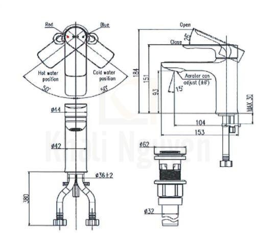 Bản vẽ kỹ thuật Inax LFV-612S