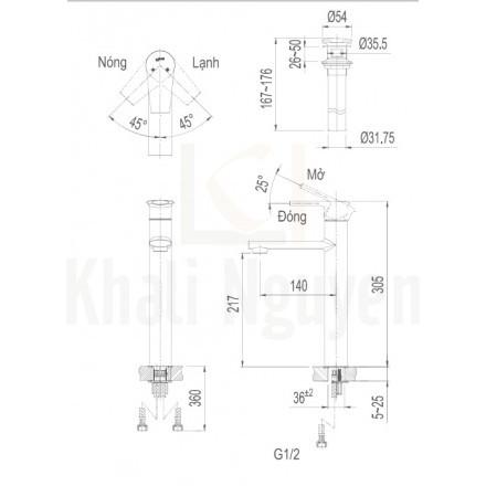 Bản vẽ kỹ thuật Inax LFV-7100SH