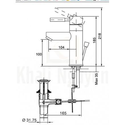 Bản vẽ kỹ thuật Inax LFV-8000S