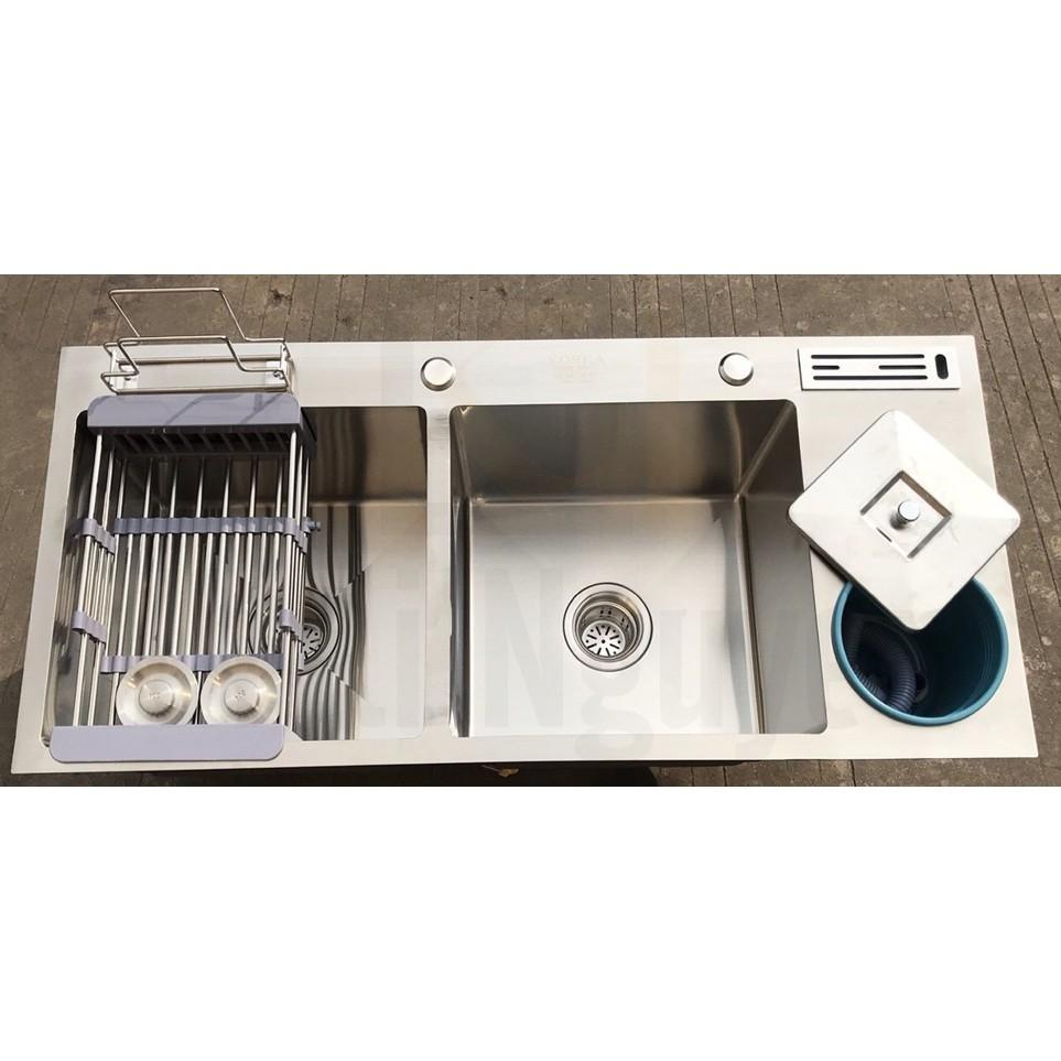 Chậu rửa bát handmade đúc Inox cao cấp Kagol H10045-RD 304