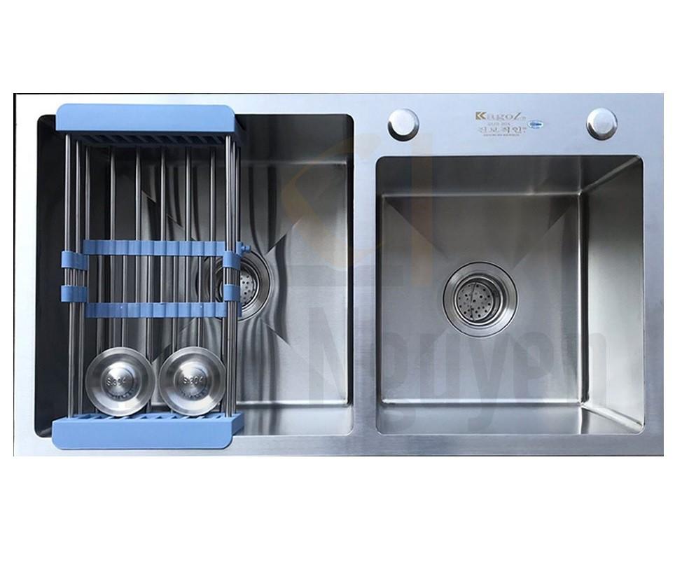 Chậu rửa bát handmade đúc Inox cao cấp Kagol H7040-Lech 304