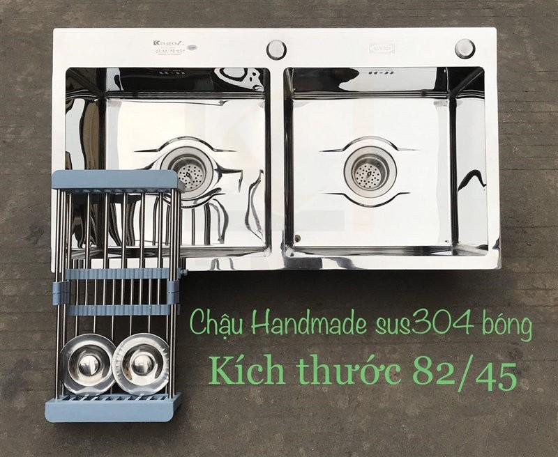 Chậu rửa bát handmade đúc cao cấp Kagol H8245-Can 304 Bong