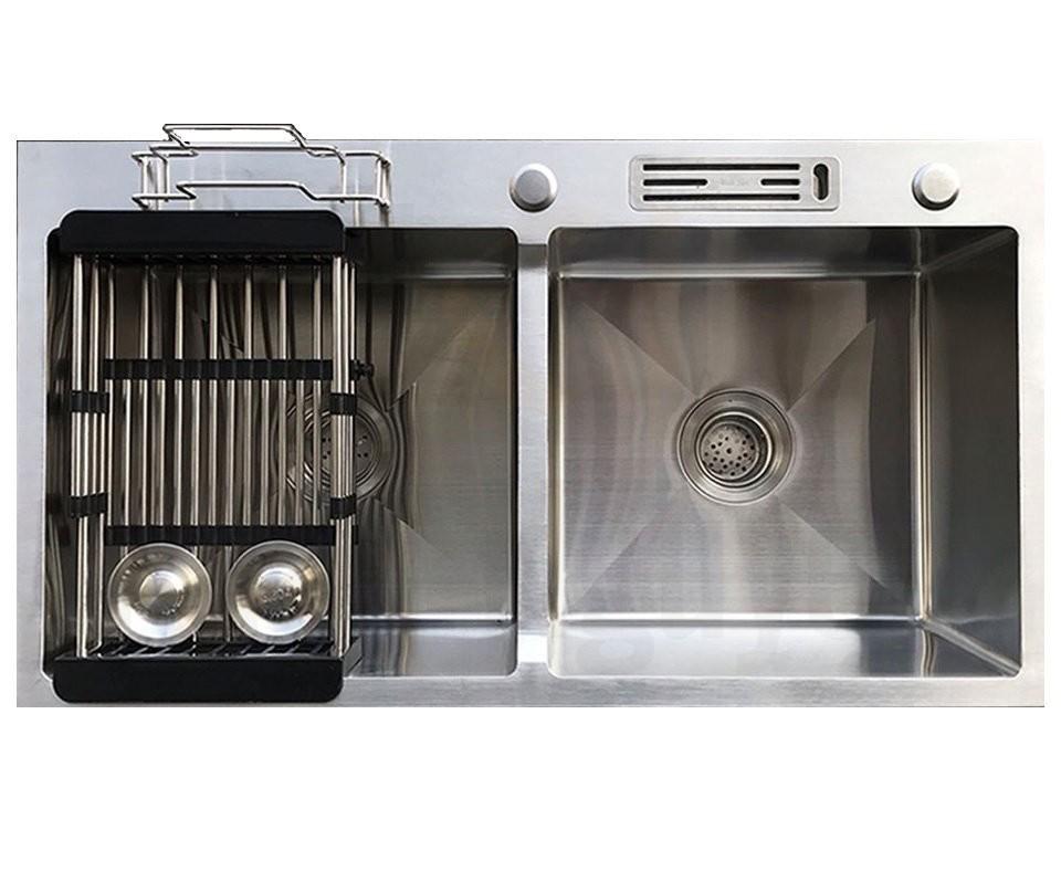 Chậu rửa bát handmade đúc Inox cao cấp Kagol H8245-CD