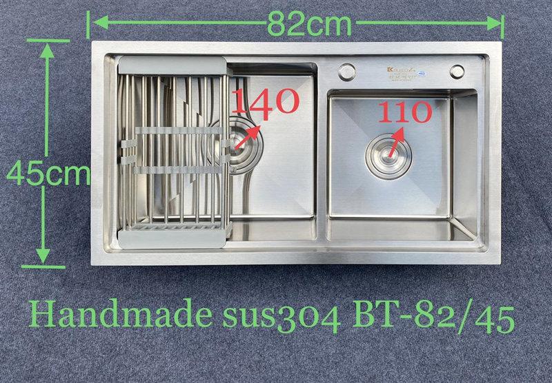 Chậu rửa bát handmade đúc cao cấp Kagol H8245BT Lech 304