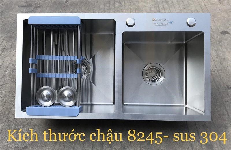 Chậu rửa bát handmade đúc cao cấp Kagol H8245L-Lech 304