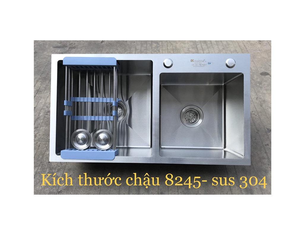 Chậu rửa bát handmade đúc Inox cao cấp Kagol H8245L-Lech 304
