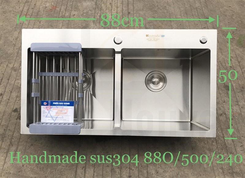 Chậu rửa bát handmade đúc cao cấp Kagol H8850-Cân 304