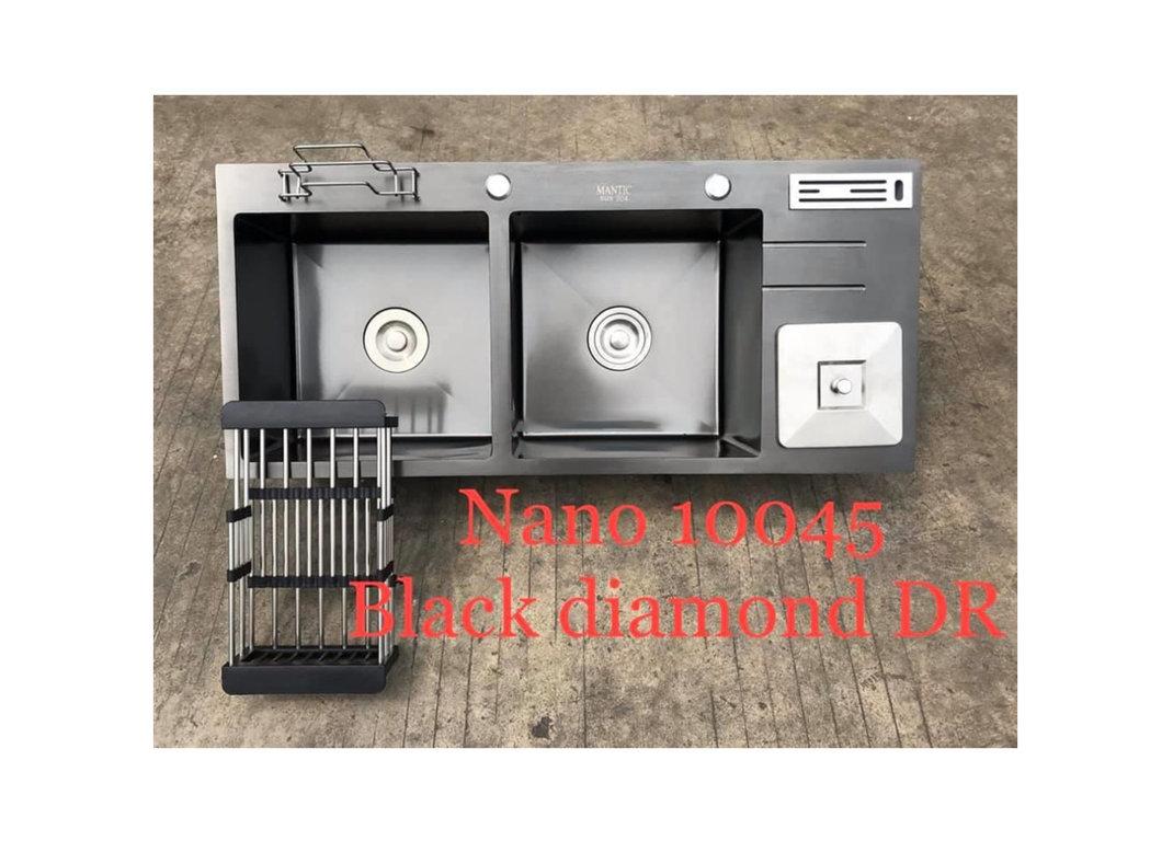 Chậu rửa bát handmade đúc phủ Nano Kagol HND10045-RD