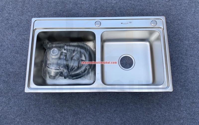 Chậu rửa bát handmade dập phủ Nano cao cấp Kagol P9245