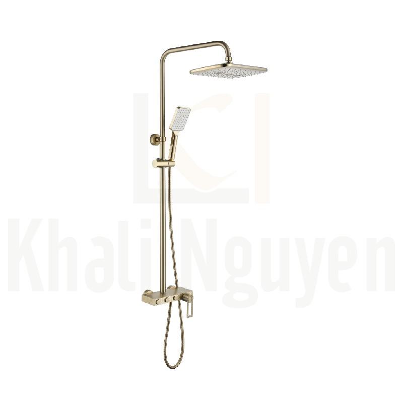Bộ sen tắm cây mạ vàng Korest K1224G