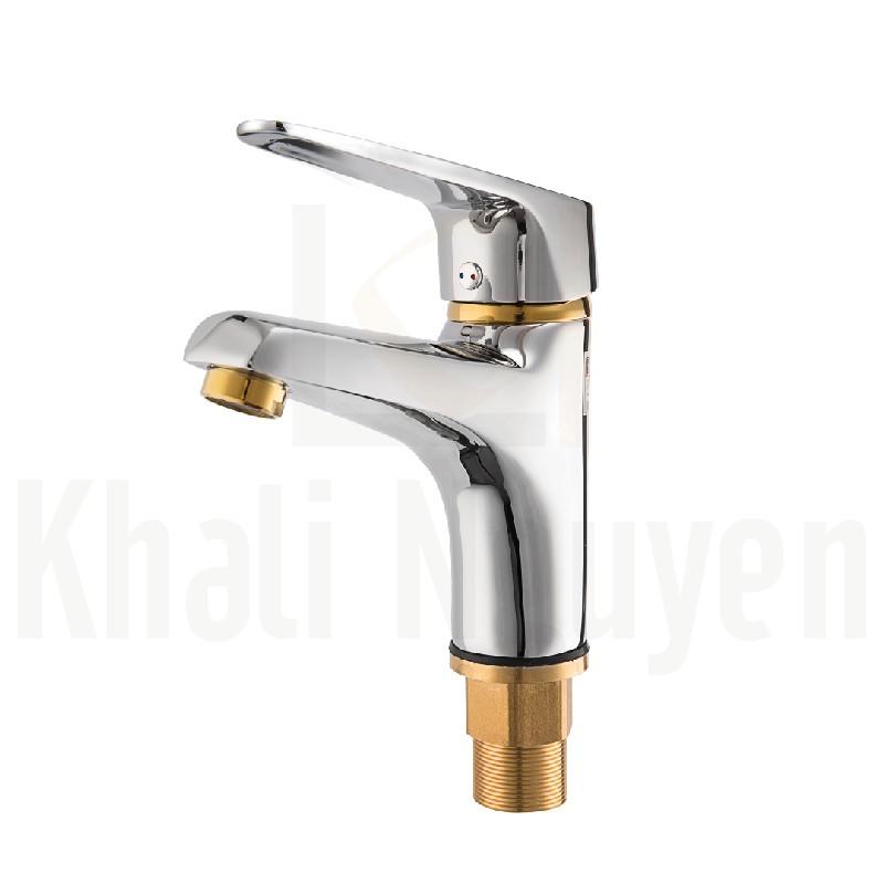 Vòi chậu lavabo đồng mạ crom korest K2002