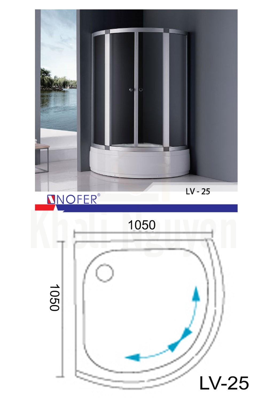 Bản vẽ kỹ thuật phòng tắm vách kính LV-25